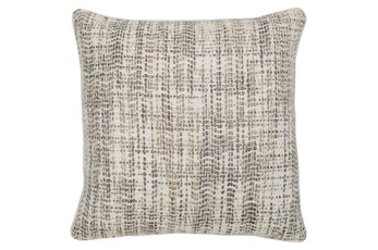 Accent Pillow-Taupe And Ivory Tweed 22X22