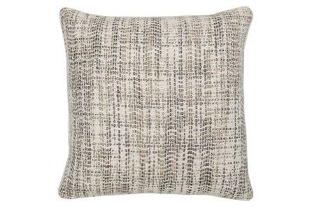 Accent Pillow-Taupe And Ivory Tweed 22X22 - Main