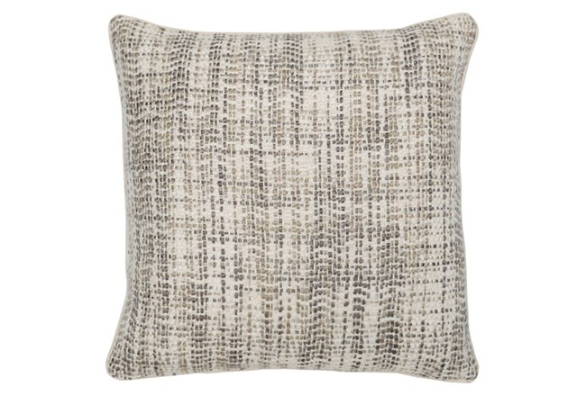 Accent Pillow-Taupe And Ivory Tweed 22X22 - 360