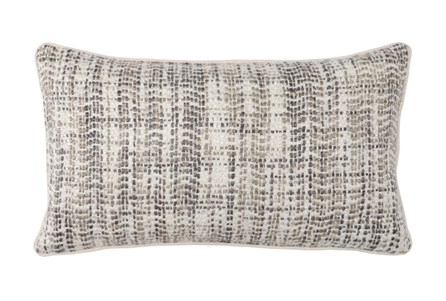 Accent Pillow-Taupe And Ivory Tweed 14X26