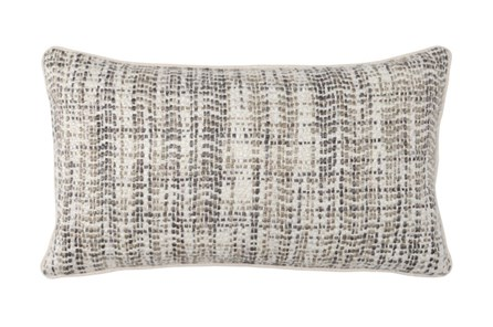 Accent Pillow-Taupe And Ivory Tweed 14X26 - Main