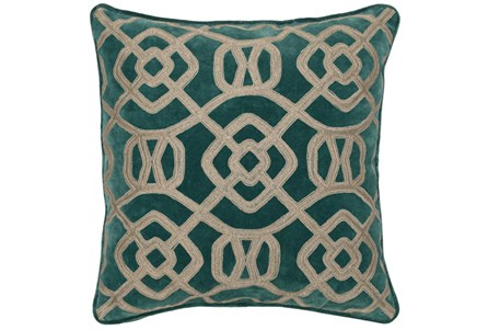 Accent Pillow-Mallard Green Fretwork 22X22