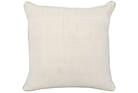 Accent Pillow-Ivory Linen And Natural Trim 20X20