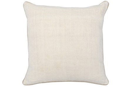Accent Pillow-Ivory Linen And Natural Trim 20X20 - Main
