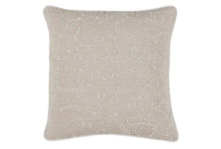 Accent Pillow-Crewel Botanical Natural 22X22