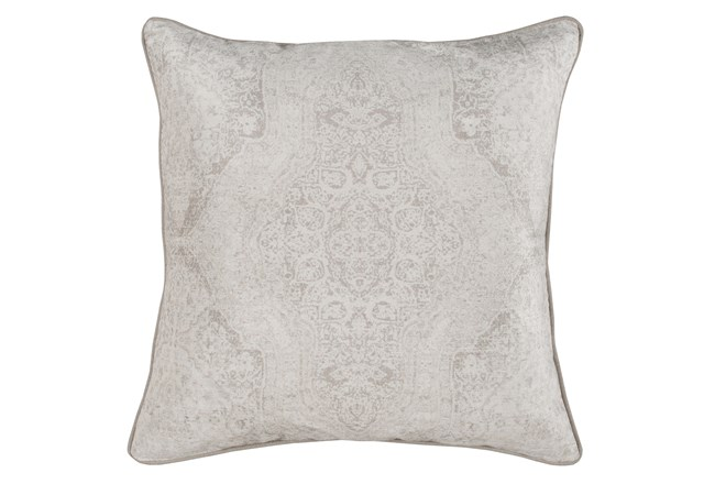 Accent Pillow-Faded Madallion Natural 22X22 - 360