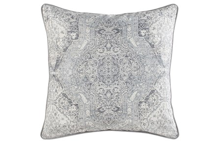 Accent Pillow-Faded Medallion Grey 22X22 - Main