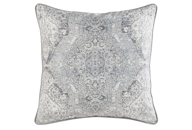 Accent Pillow-Faded Medallion Grey 22X22 - 360