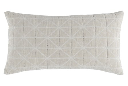 Accent Pillow-Batik Pattern Ivory 14X26