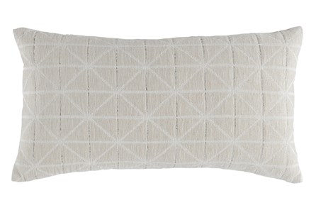 Accent Pillow-Batik Pattern Ivory 14X26 - Main