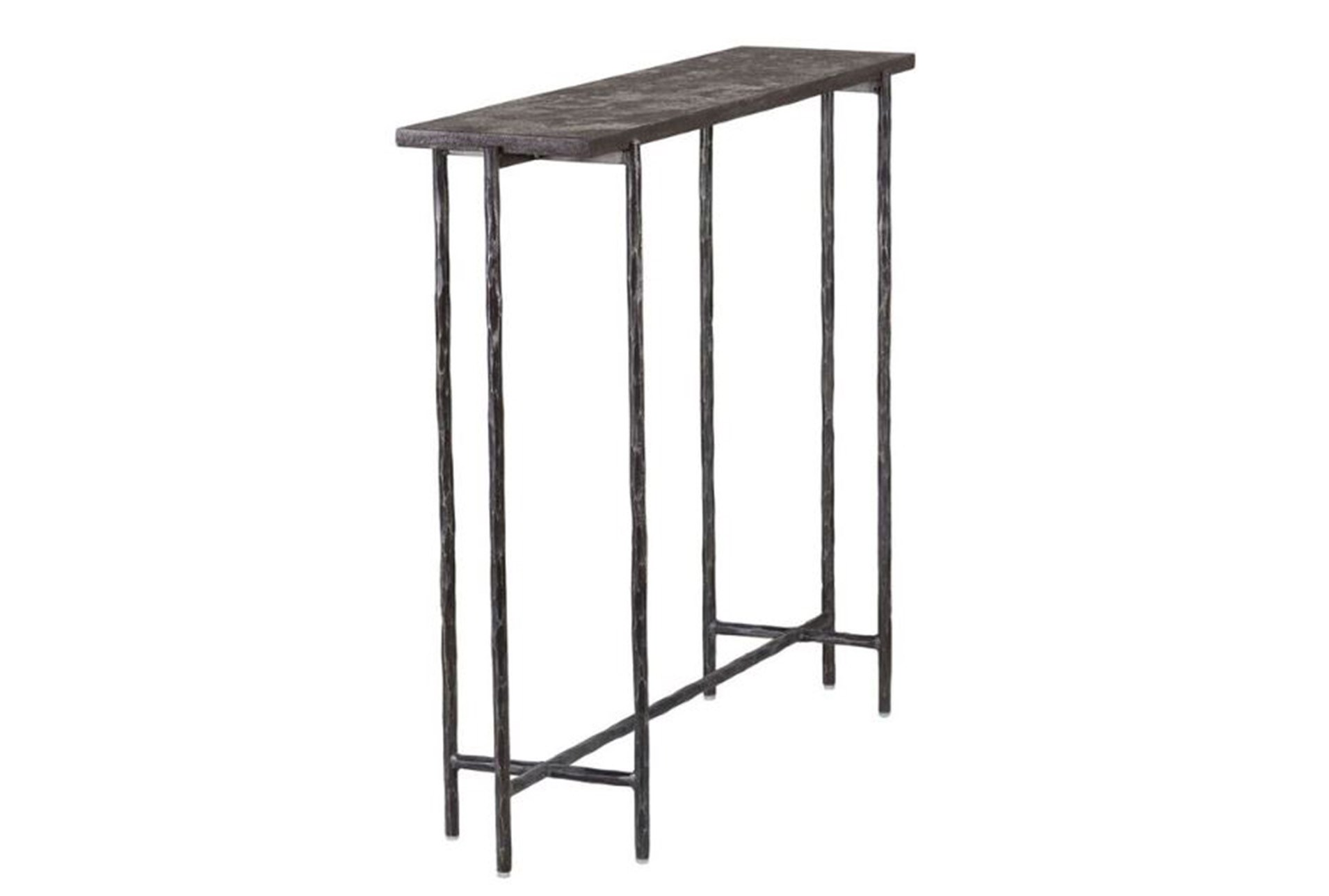 Cast Iron 35 Inch Console Table W Stone Qty 1 Has Been Successfully Added To Your Cart