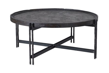 Reclaimed Elm & Cast Iron Coffee Table