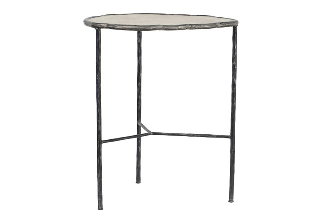 Cast Iron & Cement End Table - 360