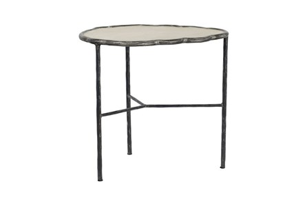 Cast Iron & Cement Accent Table - Main