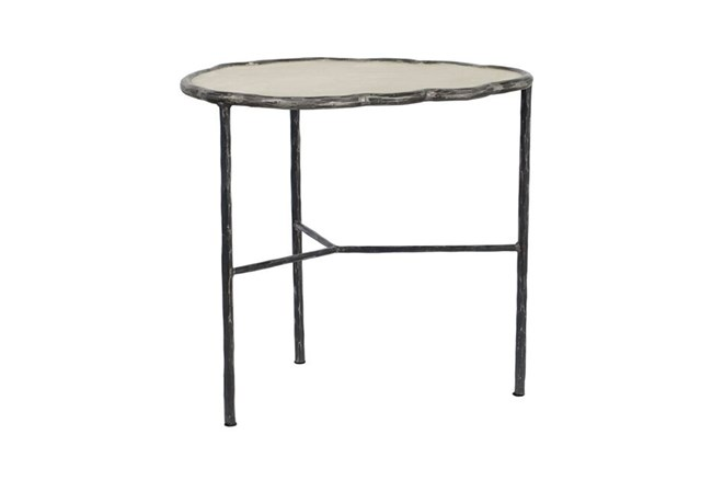 Cast Iron & Cement Accent Table - 360