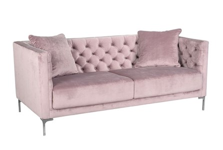 Soft Lavender Tufted Sofa