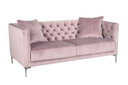 Soft Lavender Tufted Sofa - Main