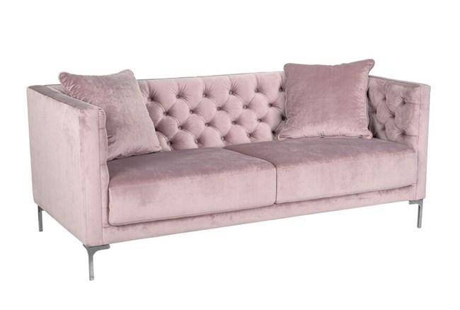 Soft Lavender Tufted Sofa - 360