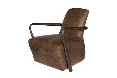 Mocha Leather Lounge Chair