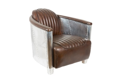 Aviation Leather Club Chair