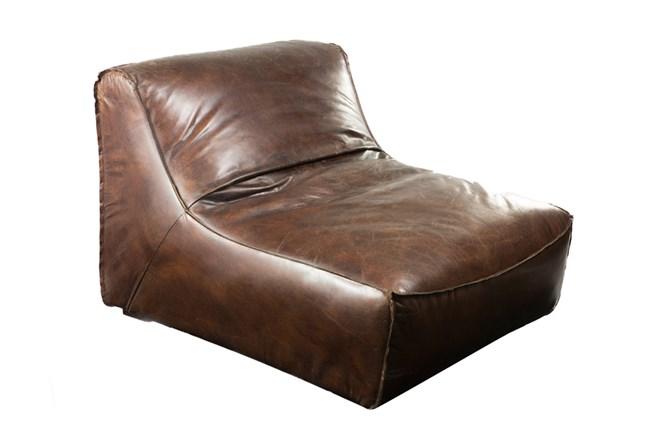 Mocha Leather Settee - 360