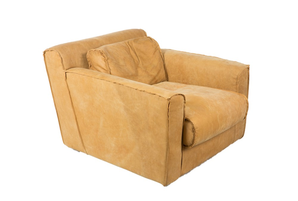 Top Grain Leather Arm Chair