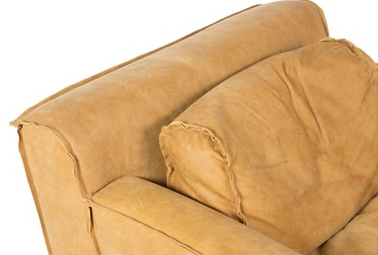 Magnificent Top Grain Leather Arm Chair Pabps2019 Chair Design Images Pabps2019Com
