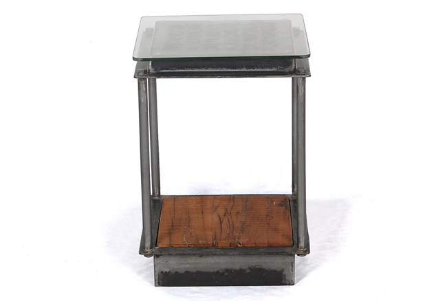 Industrial Iron Accent Table Top - 360