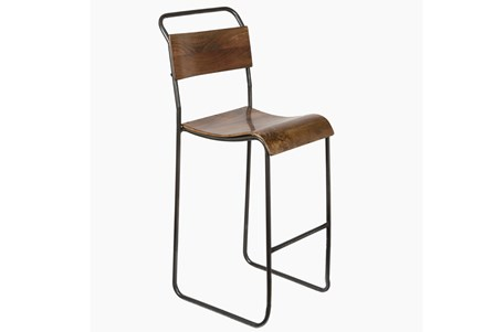 Iron And Wood Bar Stool