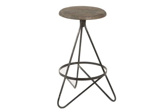 Iron And Wood Bar Stool - 360