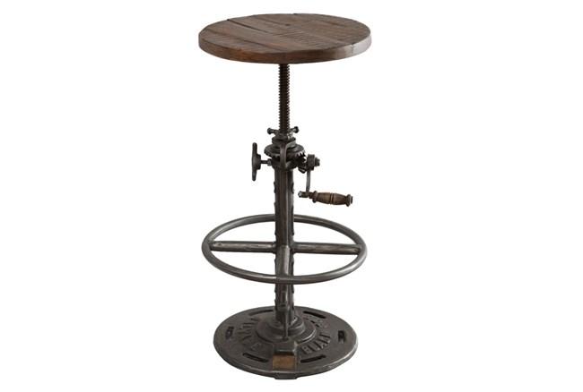 Iron And Wood Adjusting Bar Stool - 360
