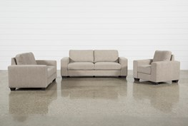Jobs Oat 3 Piece Set With Sofa, Loveseat, & Chair