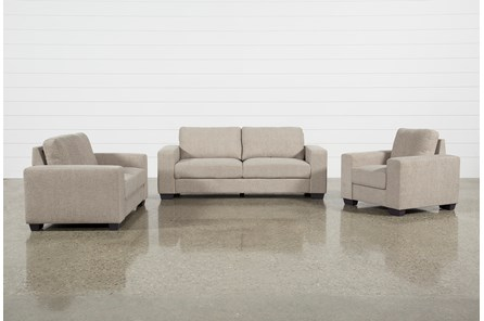 Jobs Oat 3 Piece Set With Sofa, Loveseat, & Chair - Main