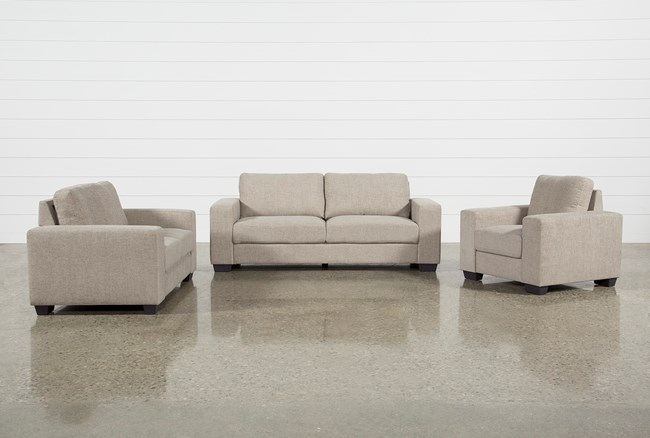 Jobs Oat 3 Piece Set With Sofa, Loveseat, & Chair - 360