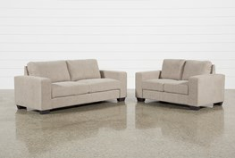 Jobs Oat 2 Piece Set With Sofa And Loveseat