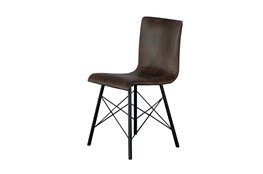 Leather Armless Dining Chair
