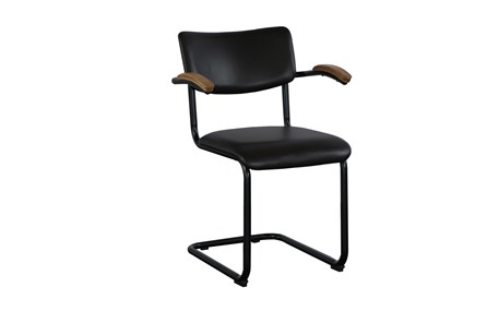 Leather + Metal Frame Dining Chair