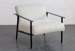 Metal Frame Accent Chair