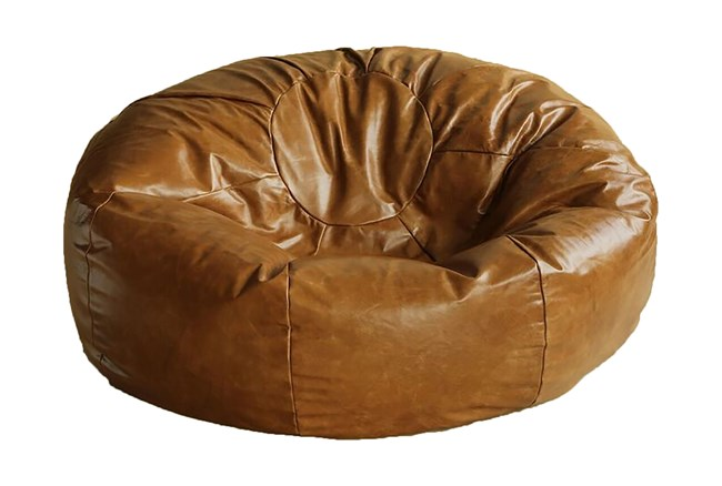 Brown Xl Bean Bag Cocoa Leather - 360