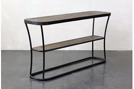 Metal + Wood Console Table