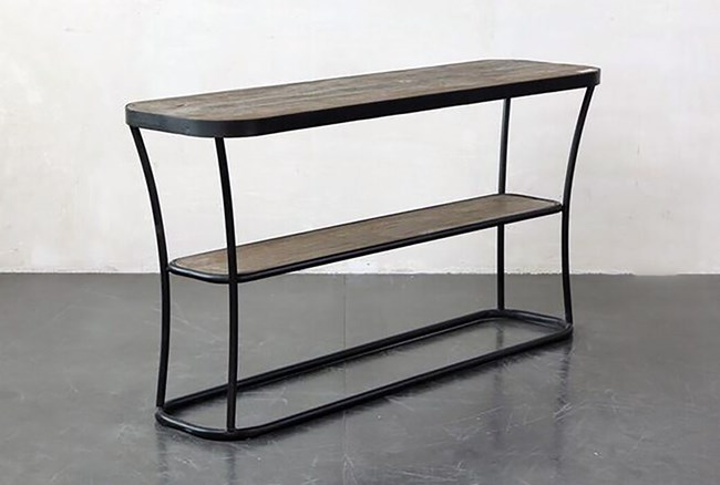 Metal + Wood Console Table - 360