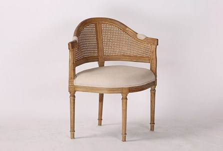 Carved French Corner Chair