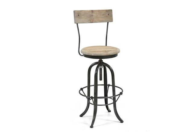 Reclaimed Footrest Bar Chair - 360