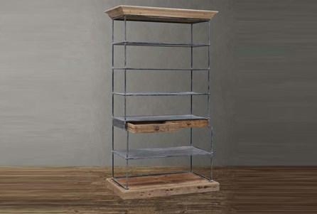 Reclaimed Fir + Iron Bookcase