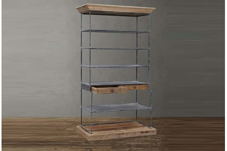 Reclaimed Fir + Iron Bookcase