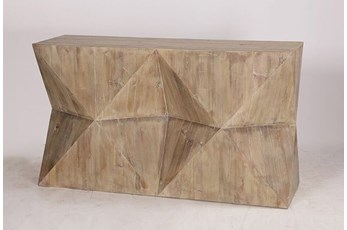"""Geo Faceted 55"""" Sofa Table"""