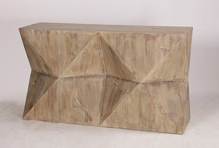 Geo Faceted Console Table