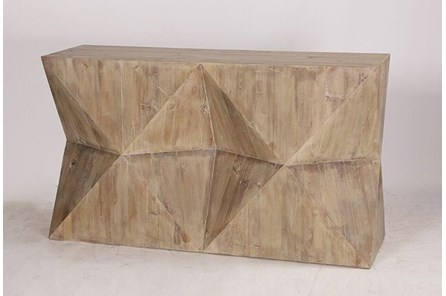 Geo Faceted Console Table - Main