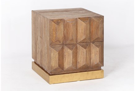 Geo Faceted End Table