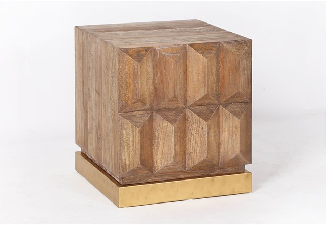 Geo Faceted End Table - 360